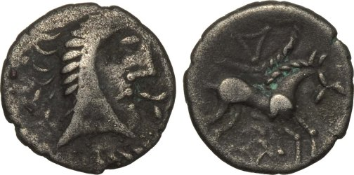 Celtic Coin with King and White Horse