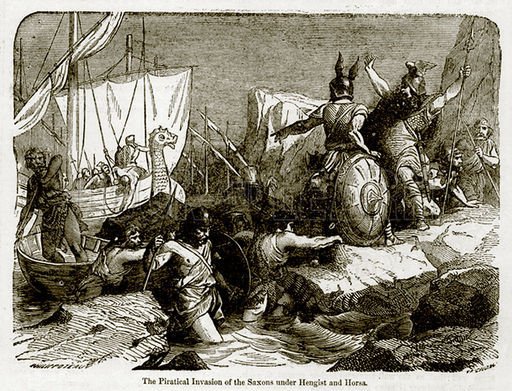 The piratical invasion of the Saxons under Hengist and Horsa