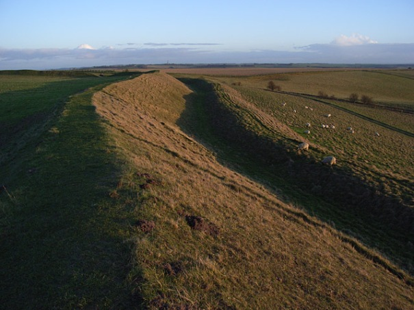 Uffington - southeast ditch and bank