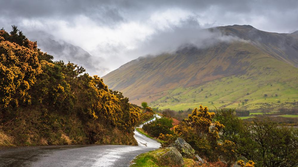 Cumbrian winding road